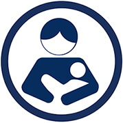 Mom breastfeeding baby icon