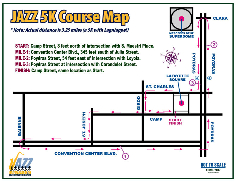 Jazz 5K Course Map