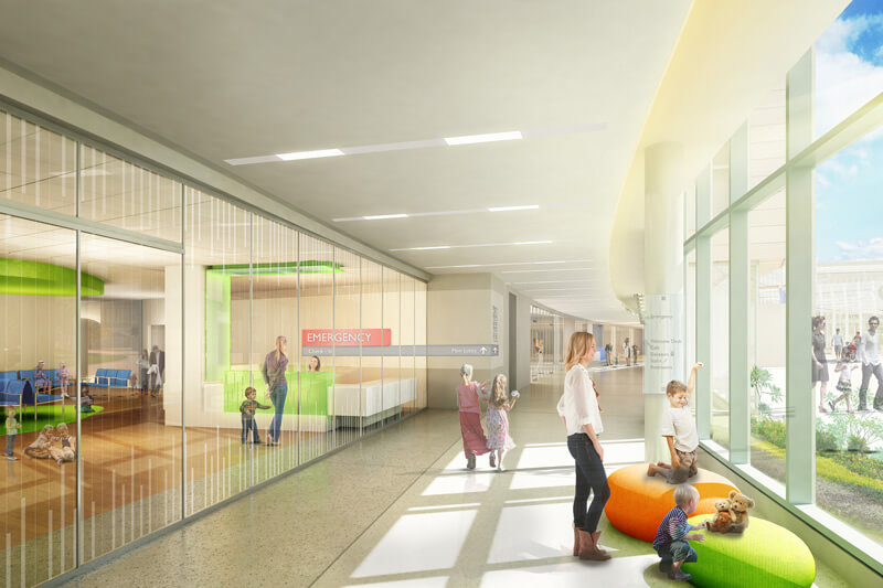 Children's Hospital emergency room lobby